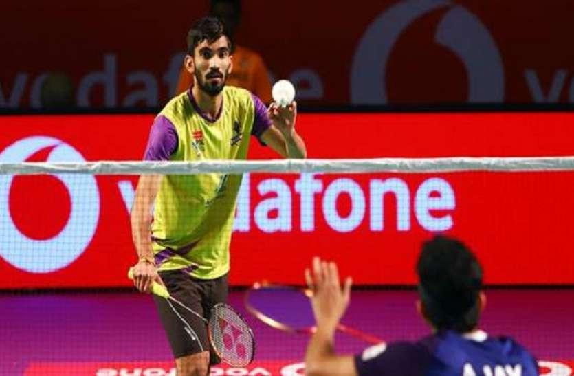 Premier Badminton league : वू, श्रीकांत ने दिलाई बेंगलुरू को जीत