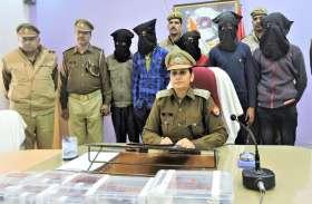 मुठभेड़ में पांच बदमाश गिरफ्तार