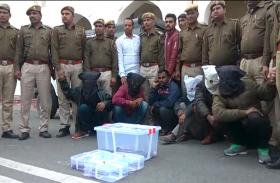 डकैतों पर राजस्थान पुलिस की बड़ी कार्रवाई, 3 पावर बाइक और अवैध हथियारों के जखीरे समेत सात को दबोचा