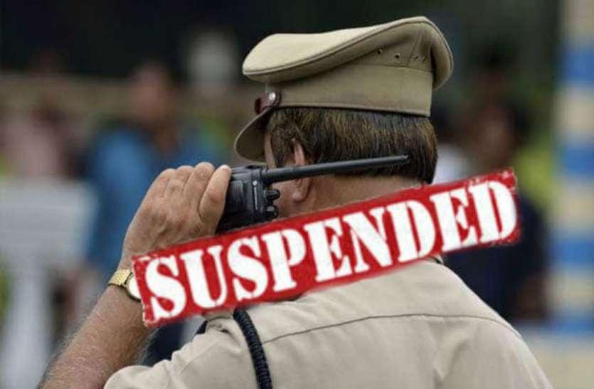 अवैध शराब रोकने में नाकाम पुलिसवालों पर गिरी गाज, एसएसपी ने किया निलंबित