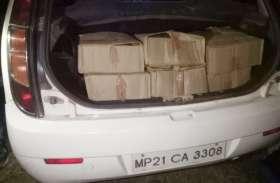 पुलिस को चकमा देकर भागे शराब माफिया, कार से जब्त की एक लाख की शराब, देखें वीडियो