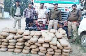 ओडिसा से राजस्थान जा रही ट्रक को पुलिस ने रोका, जब हुई चेकिंग तो बोरियां में मिला ये...