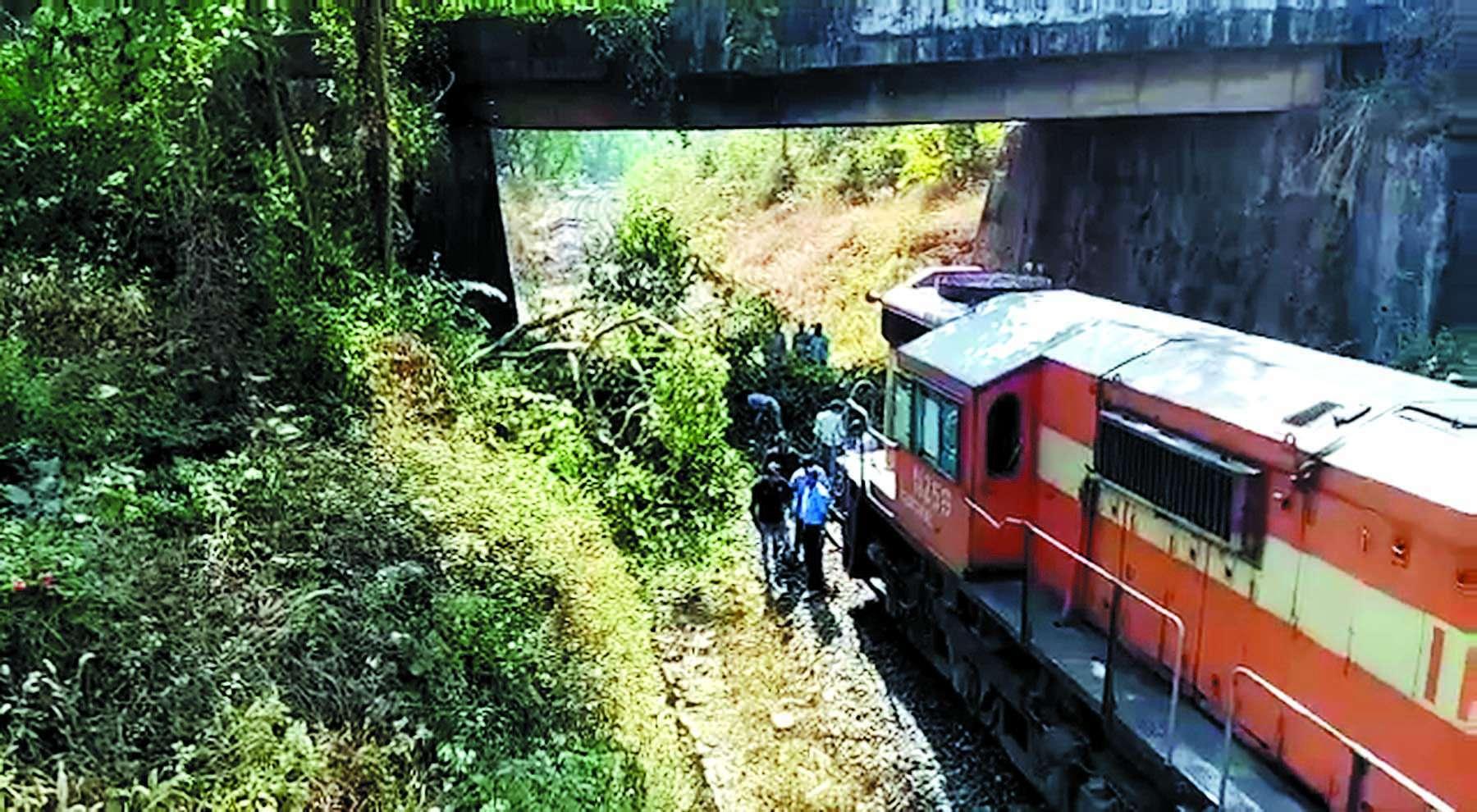 Big train accident escaped