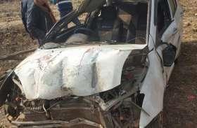 वन्यप्राणी और ट्रक से बचने कार खाई में कूदा दी, तीन लोग पहुंच गए अस्पताल