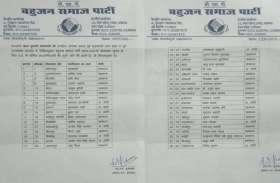 मायावती सहारनपुर से लड़ेंगी चुनाव ? बसपा की फर्जी सूची में उम्मीदवारों के नाम का ऐलान