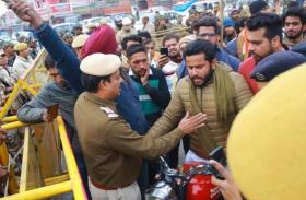 हरियाणा के एनएसयूआई कार्यकर्ताओं को दिल्ली में प्रवेश से रोका