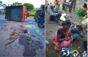 ट्रैक्टर पलटने से लहुलुहान हुए आदिवासी मजदूर, 27 घायल, 7 गंभीर
