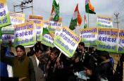 गुरूग्राम में ठहरे हैं कर्नाटक के भाजपा विधायक,रिसॉर्ट पर युवा कांग्रेस का प्रदर्शन