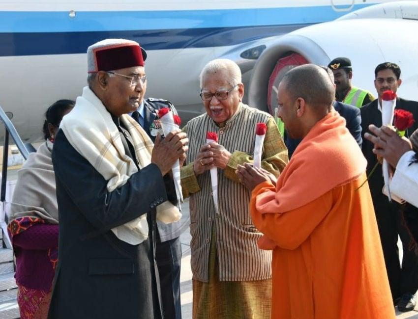 #kumbh  VIDEO: राष्ट्रपति रामनाथ कोविंद ने किया संगम पर पूजन, सख्त रही सुरक्षा व्यवस्था