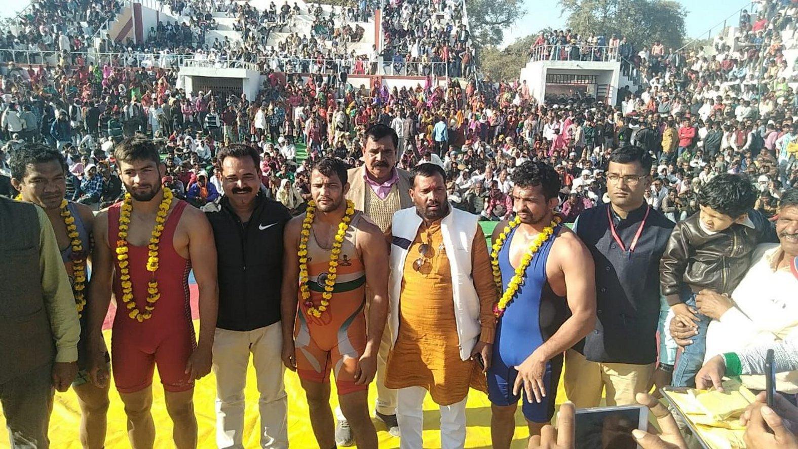 अखिल भारतीय कुश्ती प्रतियोगिता का समापन