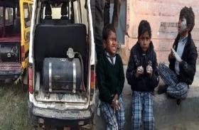 भदोही स्कूल वैन हादसे के बाद जगा प्रशासन, अवैध तरीके से LPG गैस किट लगे पांच वाहनों को किया सीज