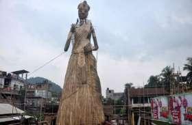 एक मुस्लिम कलाकार ने बनाई दुनिया की सबसे ऊंची दुर्गा प्रतिमा, लिम्का रिकॉर्ड्स में दर्ज हुआ नाम