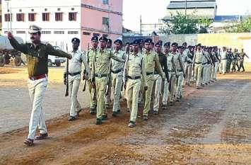 गणतंत्र दिवस की शुरू हुई तैयारियां, पुलिस बल और विद्यार्थी कदम से कदम मिलाकर कर रहे परेड