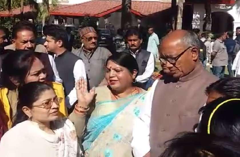 lady congress leader unique demand from digvijay singh