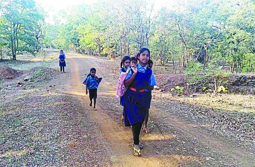 अब घोरदा गांव के  बच्चों की शिक्षा  ग्रहण करने की  स्थिति पर  शिक्षा विभाग में हड़कंप