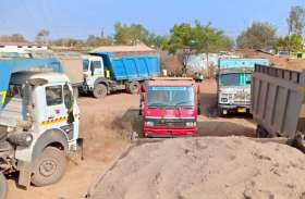 रेत की बड़ी कार्रवाई के ढाई माह बाद भी वाहनों पर जुर्माना नहीं लगने के बाद प्रशासन की भूमिका सवालों में