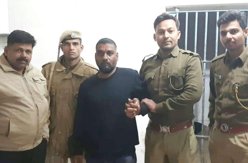 प्रतापगढ़ की गश्ती पुलिस ने शूटर मनीष को देखा, दौड़ाकर रात में पकड़ा