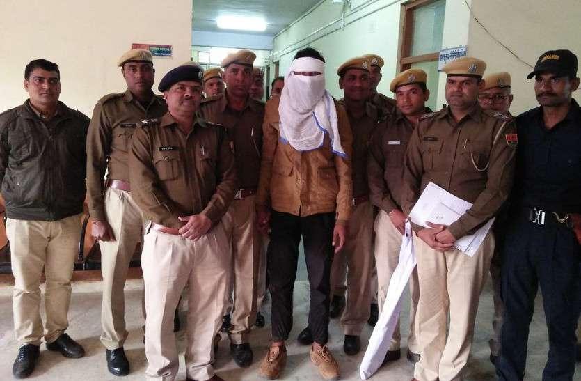 VIDEO:10 हजार का इनामी डकैत श्रीनिवास गिरफ्तार, चालक की नाक में नकेल डालने व मूत्र पिलाने की वारदात में था शामिल