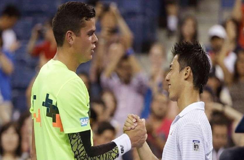 Australian Open :  प्री-क्वार्टर फाइनल में पहुंचे निशिकोरी, राओनिक