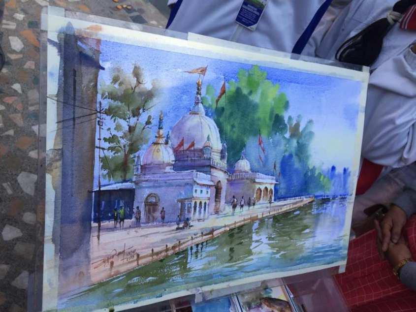 Live Painting Event में जी उठे मंदिर और मस्जिद