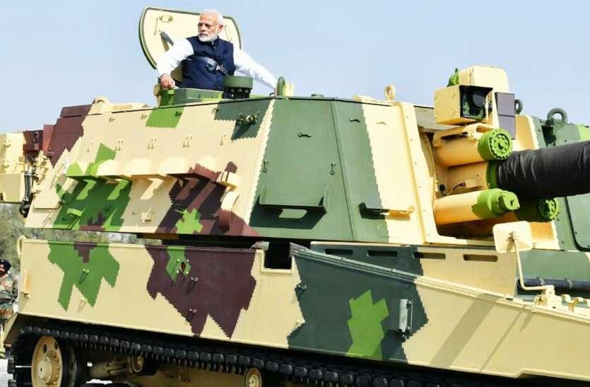 स्वदेशी टैंक के-9 वज्र का प्रधानमंत्री मोदी ने किया लोकार्पण
