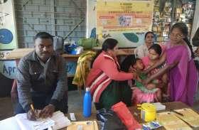 76 हजार से अधिक बच्चों को लगाया एमआर टीका