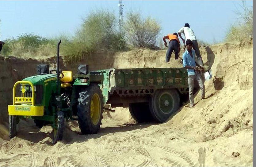 जैतारण क्षेत्र में नहीं रुक रहा बजरी का अवैध खनन