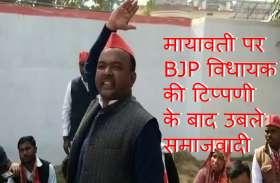 मायावती पर BJP विधायक की अभद्र टिप्पणी के बाद सपाइयों ने क्या किया... Video में देखें