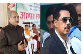 नरेंद्र सिंह तोमर ने रॉवर्ट वाड्रा को बताया कमीशन खोर, कांग्रेस में मचा घमासान