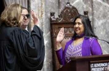 अमरीका: बिहार में जन्मीं मोना दास ने गीता के साथ सीनेटर पद की ली शपथ