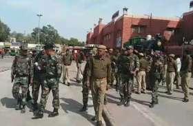 आतंकी गतिविधियों की आशंका, सुरक्षा एजेंसियों के हथियारबंद जवानों ने की सघन जांच