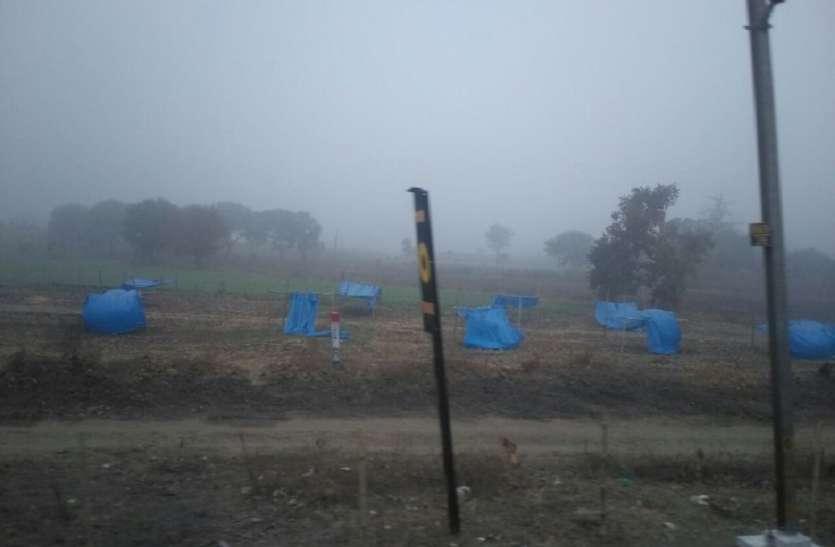 अचानक बिगड़ा मौसम का मिजाज,कोहरे के आगोश में डूबी रही सुबह