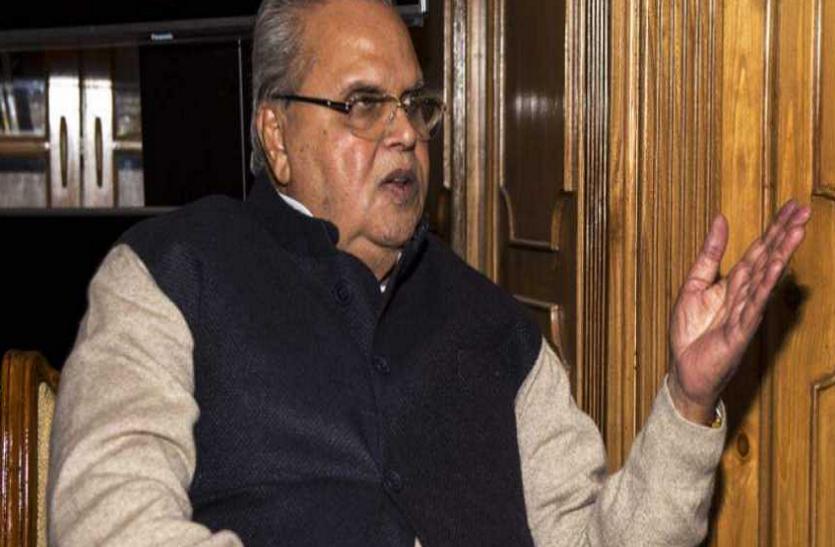 जम्मू और कश्मीर के राज्यपाल सत्यपाल मलिक का बयान, 'आतंकी के मारे जाने पर होती है तकलीफ'