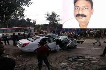 सीतापुर जिला जज का हुआ भीषण एक्सीडेंट,ड्राइवर की मौके पर हुई मौत