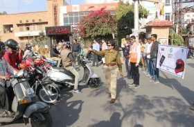अंतरराष्ट्रीय महिला दिवस पर जयपुर ट्रैफिक पुलिस ने की यह खास पहल