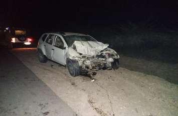 कार-जीप की भिड़ंत में तीन की मौत