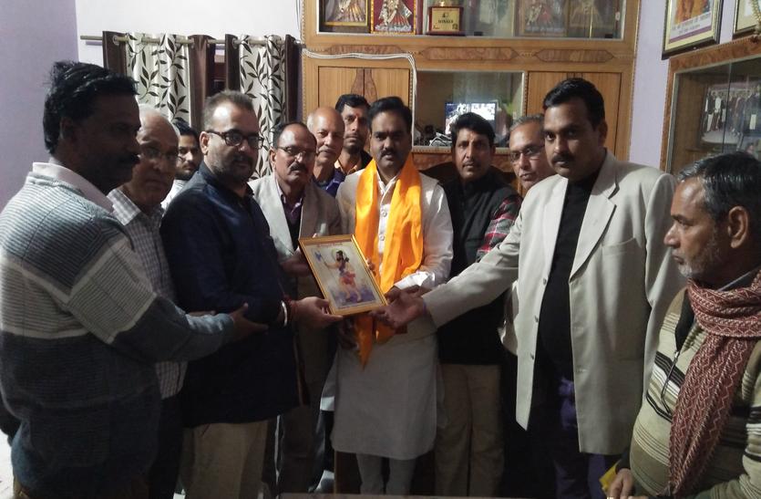 शक्ति चेतना जागरण शिविर की तैयारी, राष्ट्रीय महासचिव का ब्राह्मण समाज ने किया अभिनन्दन