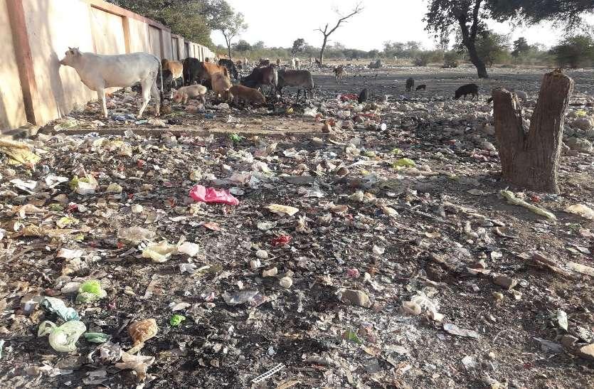 भेल की दीवार की ओट में डंप किया जा रहा कचरा, गंदगी से रहवासी बेहाल