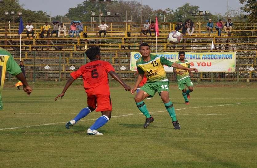Photo Gallery  : झारखंड टूर्नामेंट से हुई बाहर ओडि़शा ने जीता पहला मैच संतोष ट्रॉफी नेशनल फुटबॉल चैम्पियनशीप