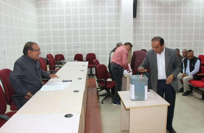 जेएनवीयू सीनेट बैठक में वोटिंग से हो रहा छात्र प्रतिनिधि का चुनाव
