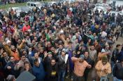 शिक्षक-कर्मचारी हड़ताल को बिजली कर्मियों का मिला समर्थन