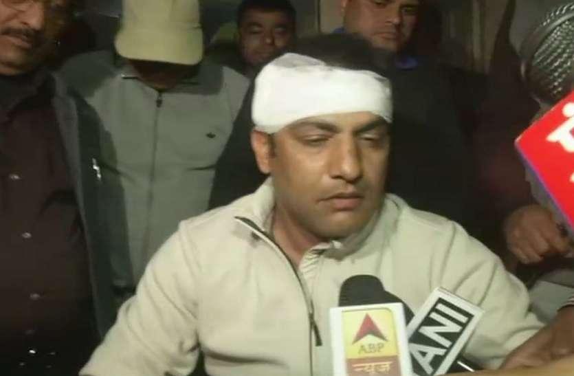 चोटिल अवस्था में मीडिया के सामने आए अमित भंडारी, बताई हमले की वजह