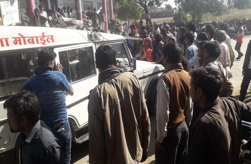 अवैध मादक पदार्थ तस्करी में तस्दीक के दौरान पुलिस का किया ग्रामीणों ने धेराव