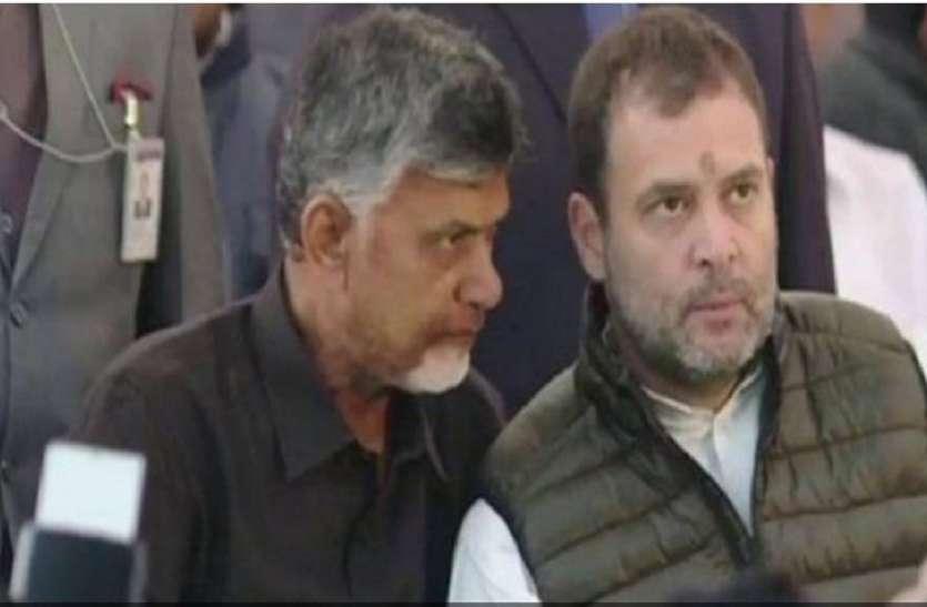 राहुल गांधी ने चंद्रबाबू नायडू की मांग का समर्थन किया, कहा- 'चौकीदार चोर को मिलकर हराएंगे'