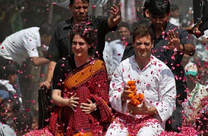 जिस बस में सवार होकर यूपी में रोड शो कर रही हैं प्रियंका, वह कांग्रेस के लिए है बेहद लक्की