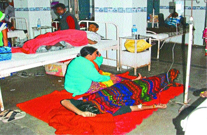 इस अस्पताल में ठंड में मरीजों को फर्श पर लेटना पड़ता है, क्योंकि पलंग नहीं हैं