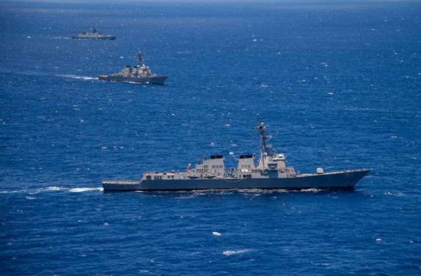 एंटी मिसाइल वॉरशिप भेजकर तनाव भड़काना चाह रहा अमरीका: चीन