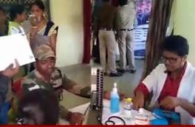 जिला पुलिस ने पुलिस परिवार के लिए लगाया स्वास्थ्य शिविर