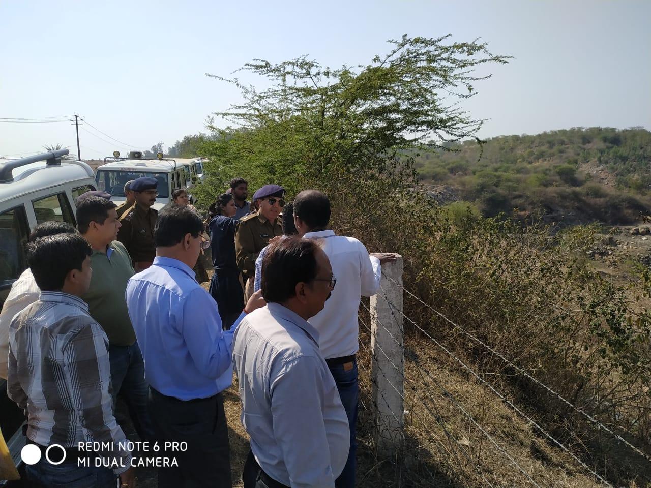 माइनिंग एवं प्रदूषण विभाग की टीम जांच के लिए पहुंची