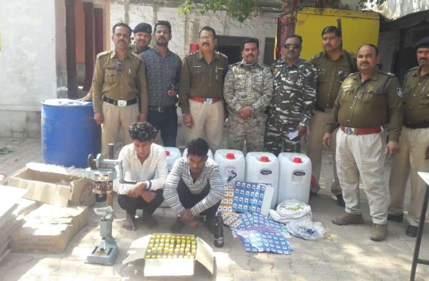श्योपुर में शराब की अवैध फैक्ट्री पकड़ी,पुलिस देख भाग संचालक